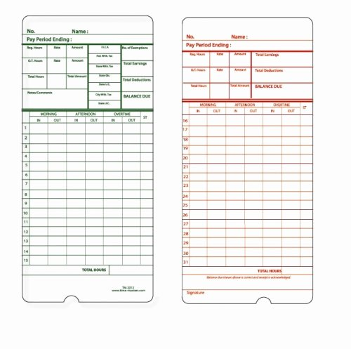 Timecard Template Beepmunk