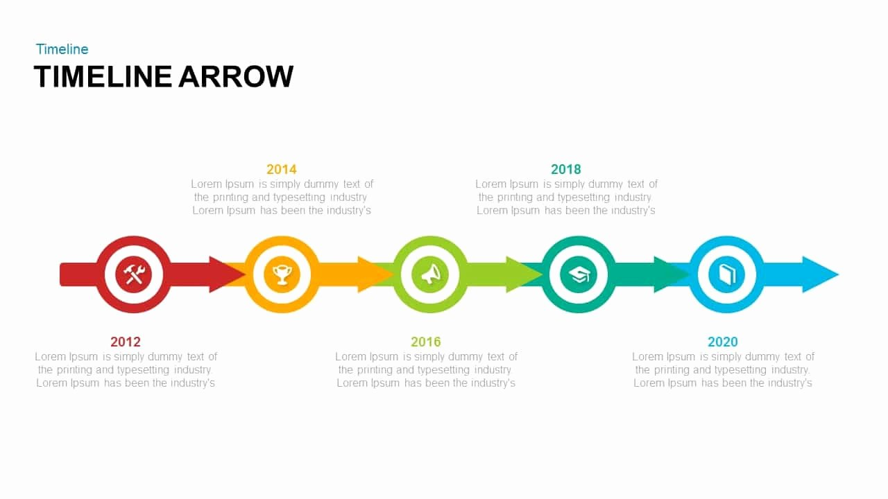 Timeline Arrow Powerpoint and Keynote Template