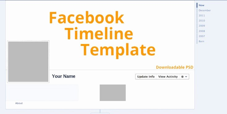 Timeline Cover Template 2016 with Psd