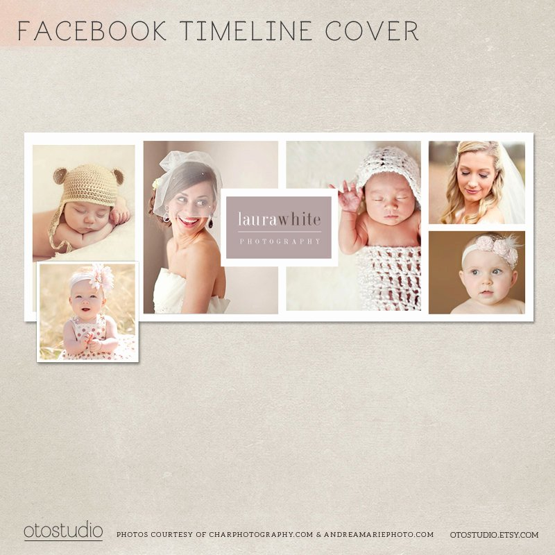 Timeline Cover Template Photo Collage Photos Digital