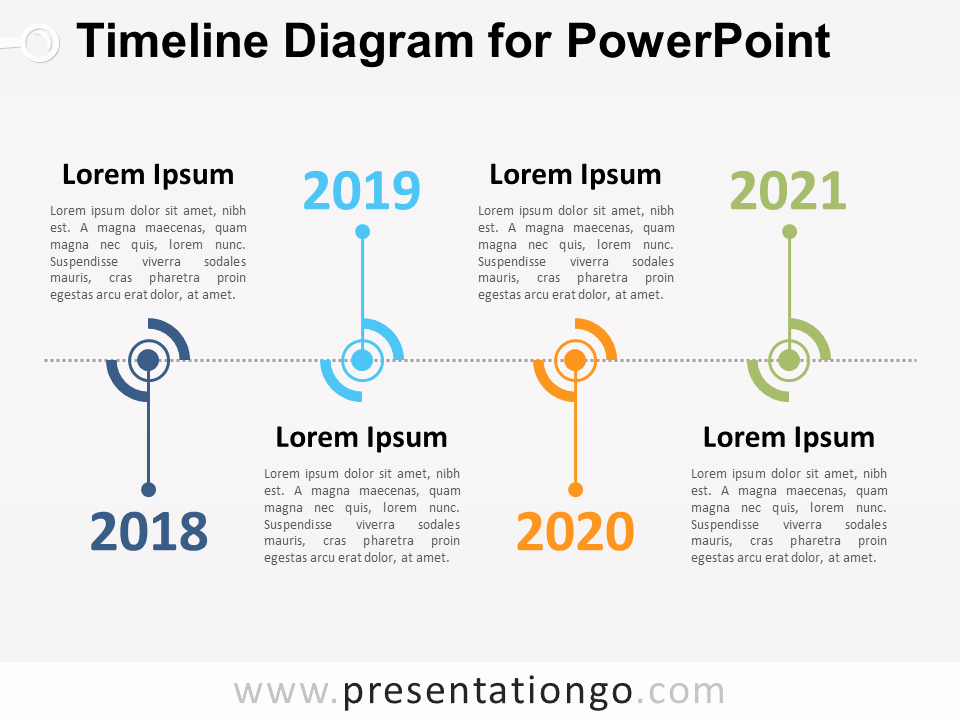 Timeline Diagram for Powerpoint Presentationgo
