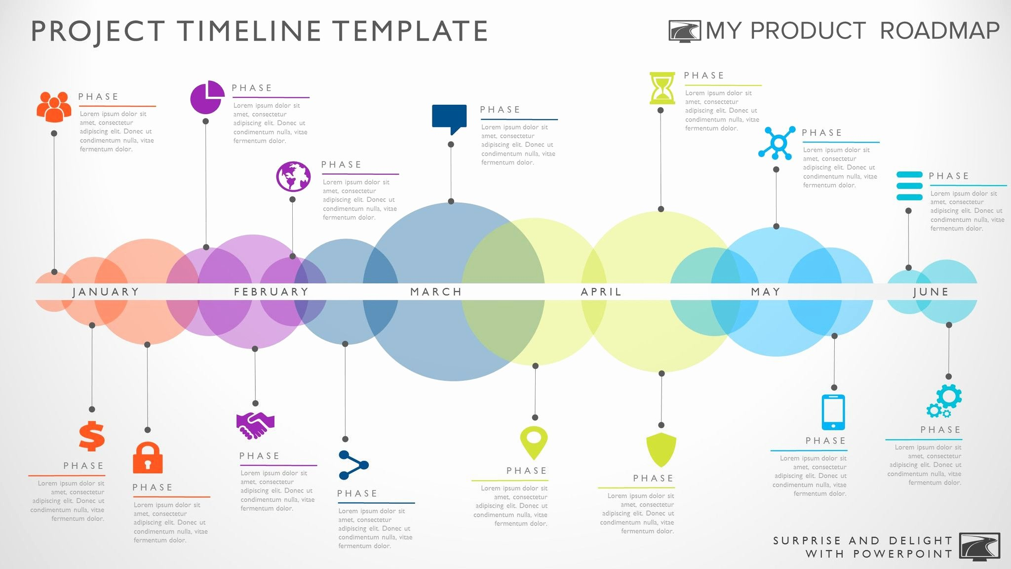 Timeline Template for Powerpoint Great Project Management