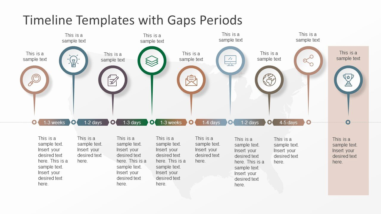 Timeline Templates with Gaps Periods Slidemodel