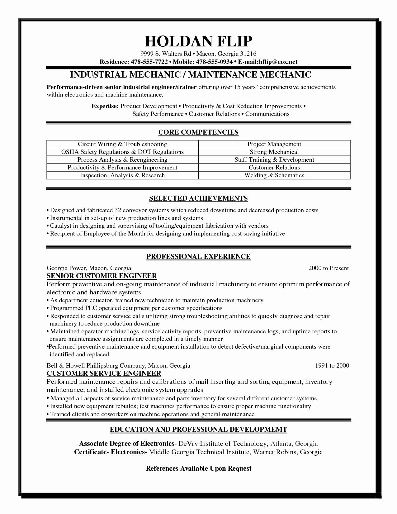 Tire Technician Job Description Resume Resume Ideas