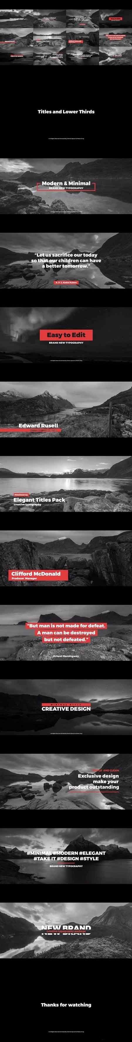 Titles and Lower Thirds Premiere Pro Templates