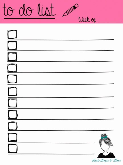 To Do List Printables