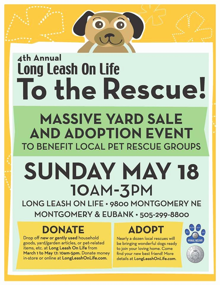 """""""to the Rescue"""" Massive Yard Sale and Adoption event Nmdog"""