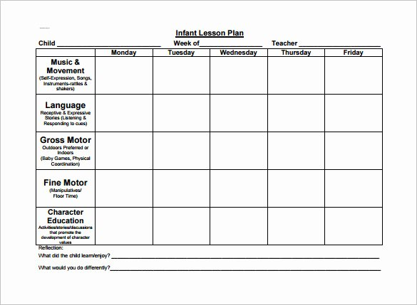 Toddler Lesson Plan Template – 10 Free Word Excel Pdf