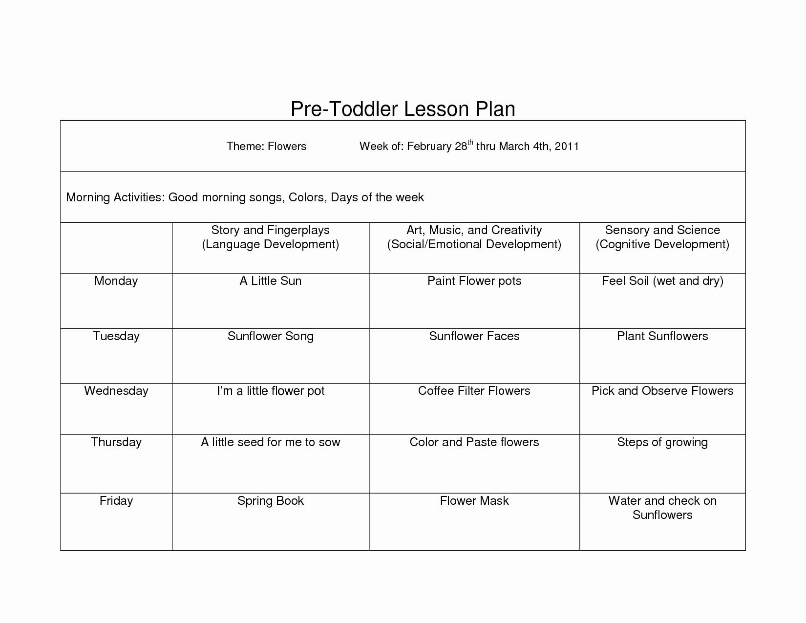 Toddler Lesson Plan Template Pdf Google Search