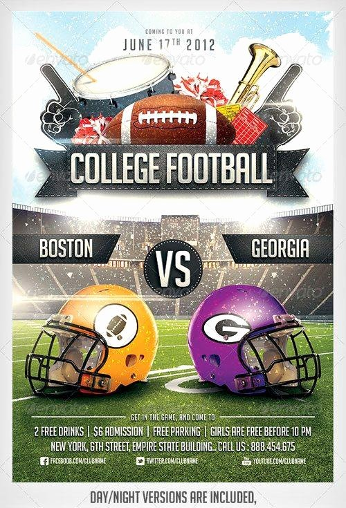 Top 10 American Football Psd Flyer Templates