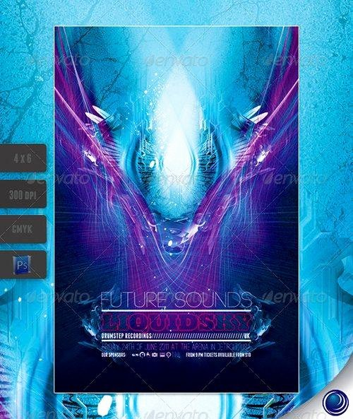 Top 10 Best Electro Techno Club Psd Flyer Templates
