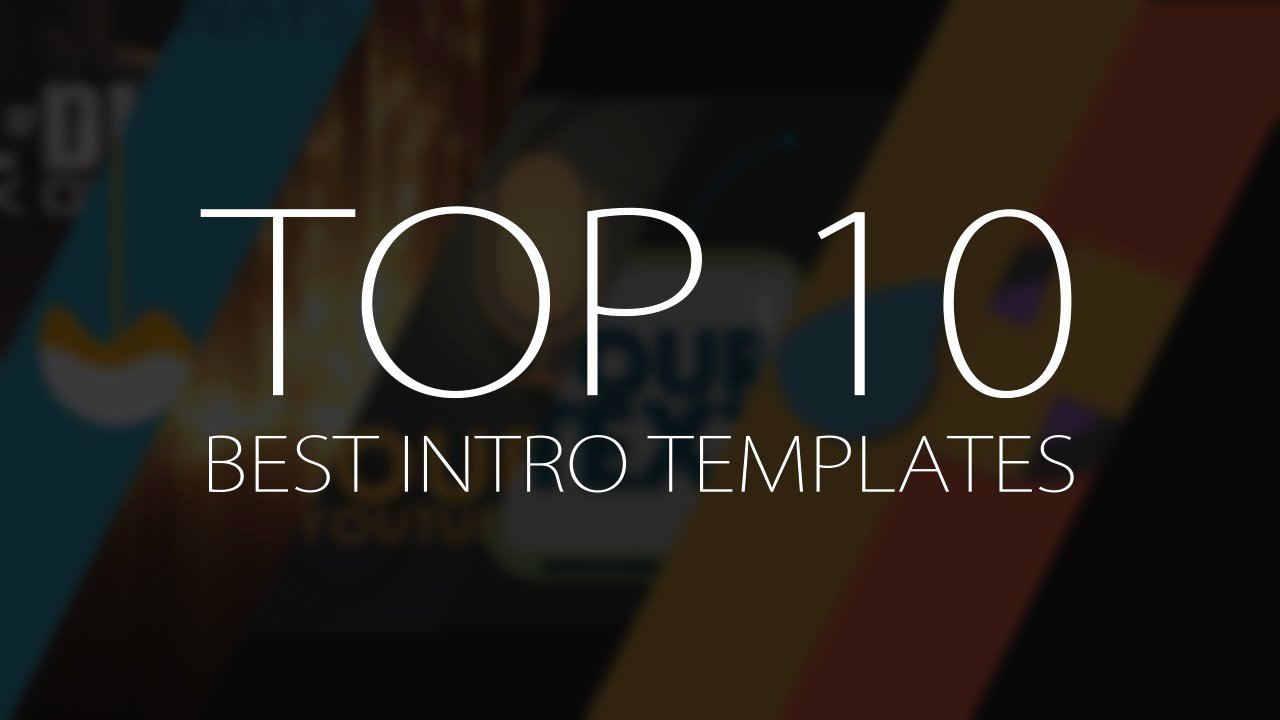 Top 10 Best Motion Graphics Intro Templates April 2017