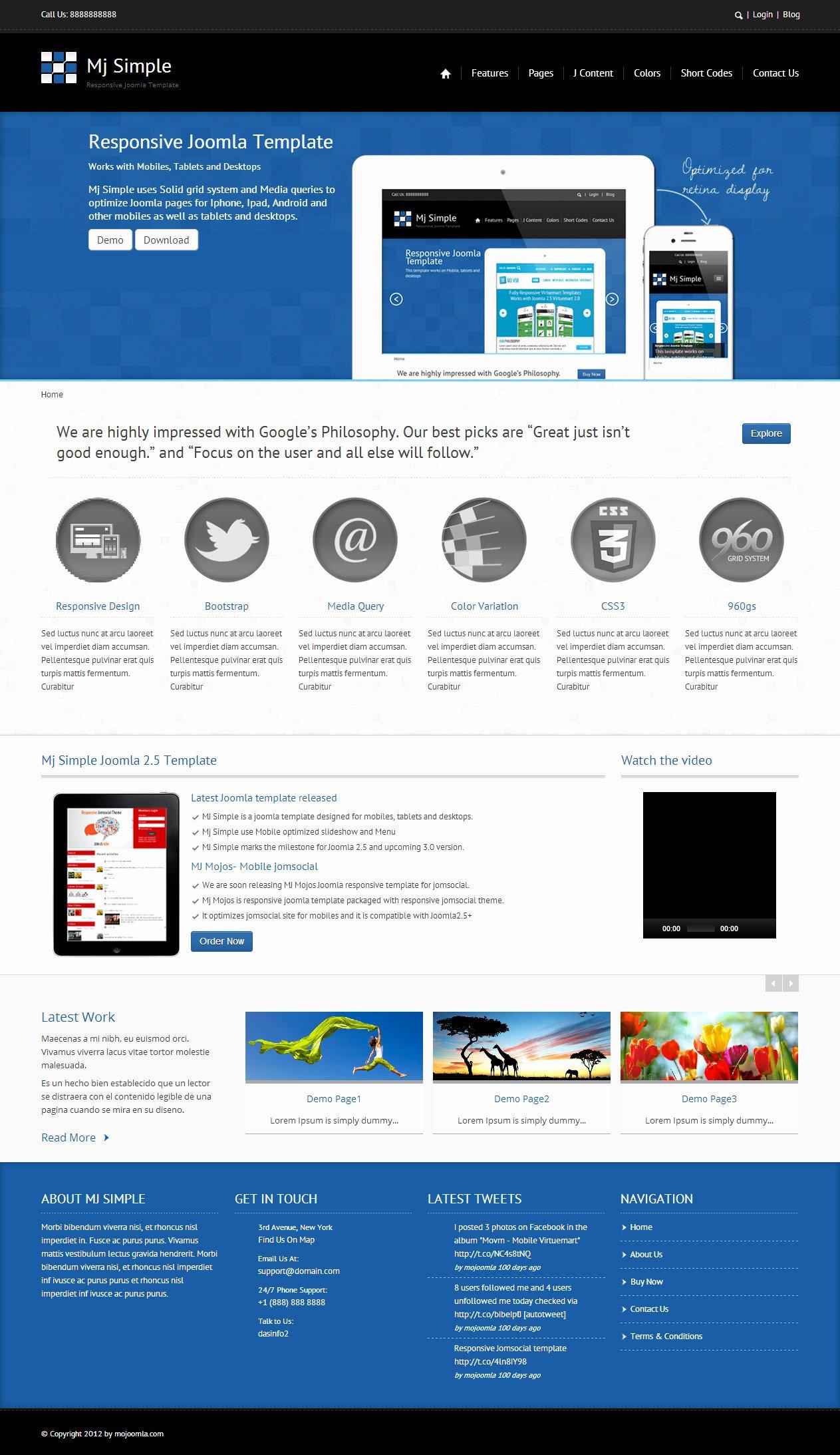 Top 10 Best Premium Joomla Responsive Templates Platina