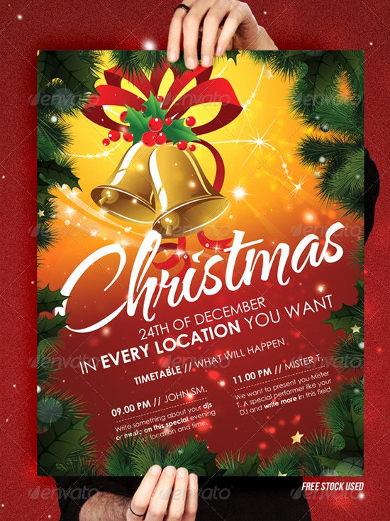 Top 10 Christmas Party Flyer Templates 56pixels