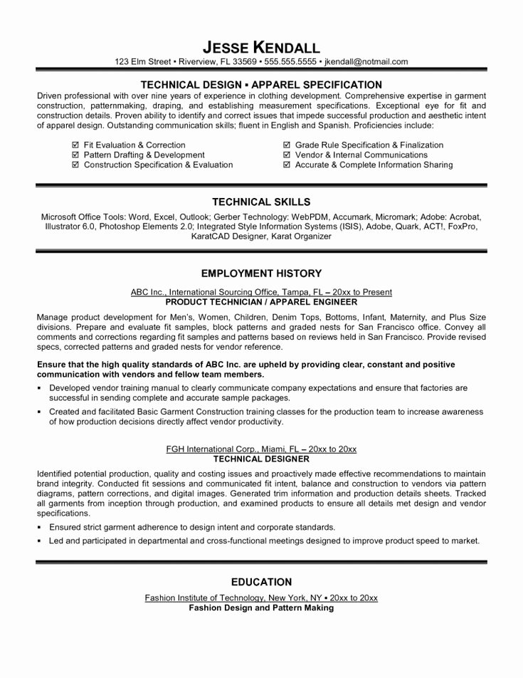 10 11 Technical Theatre Resumes Latter Example Template