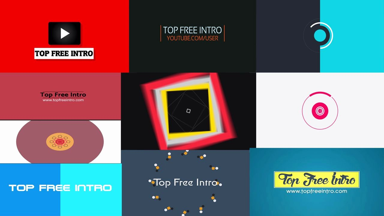 Top 10 Free 2d Intro Templates No Plugins after Effects