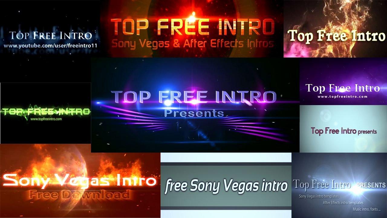 Top 10 Free Intro Templates 2016 sony Vegas