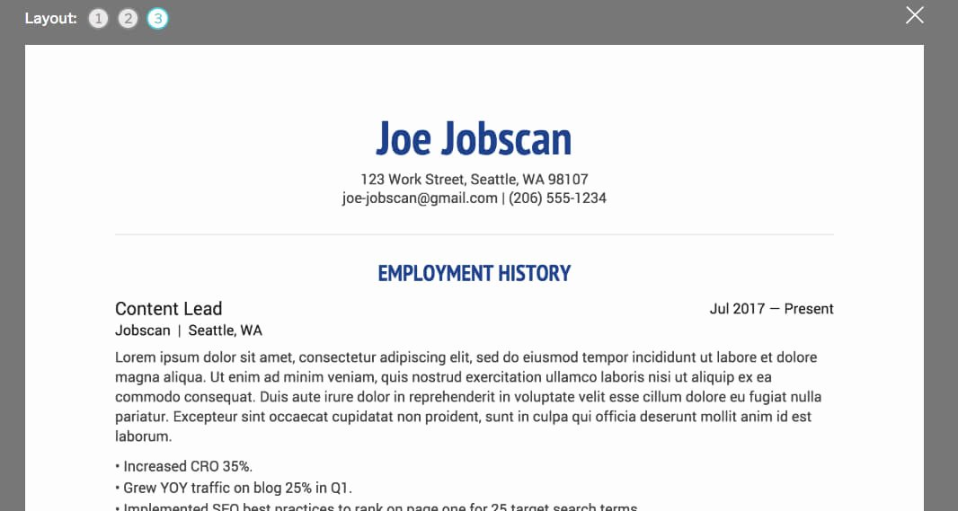 Top 10 Free Resume Builder Line Reviews Jobscan Blog