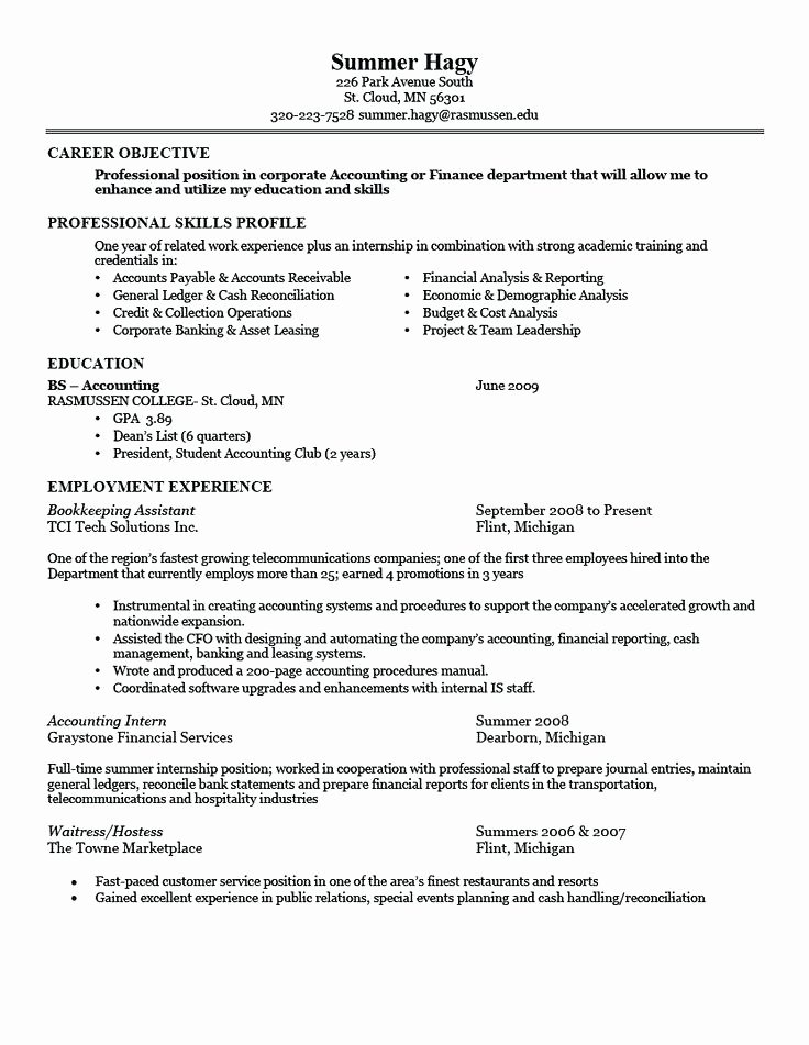 Top 10 Resume Samples for Freshers Free Download
