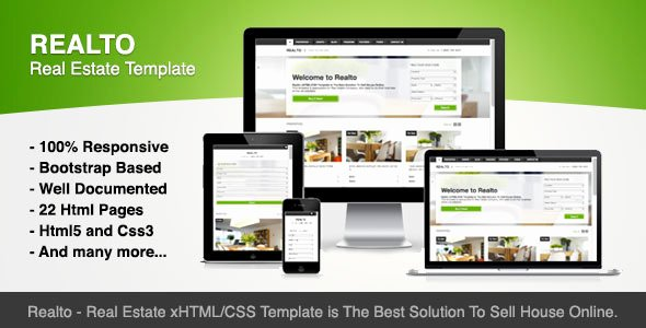 Top 20 HTML Templates for Real Estate Websites