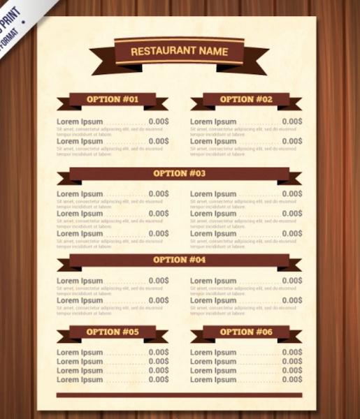 Top 30 Free Restaurant Menu Psd Templates In 2018 Colorlib