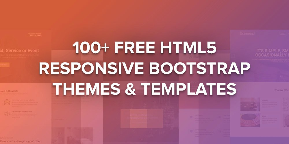 Top 40 Free HTML5 Responsive Bootstrap themes & Templates