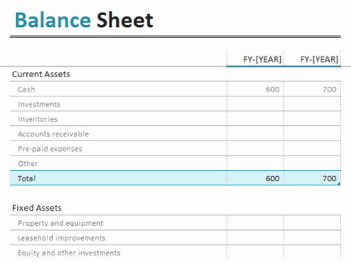 Top 5 Free Balance Sheet Templates Word Templates Excel