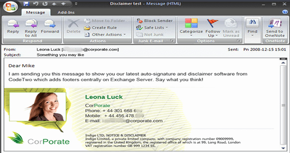 Top 5 Professional Outlook Signature Template
