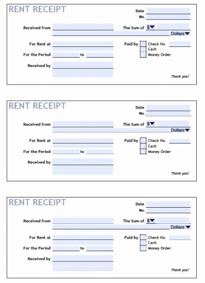 Top 5 Samples Rent Receipt Templates Word Templates