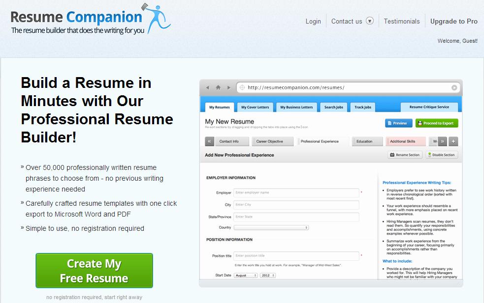 Top 5 Sites to Create Resume Online – Stronics