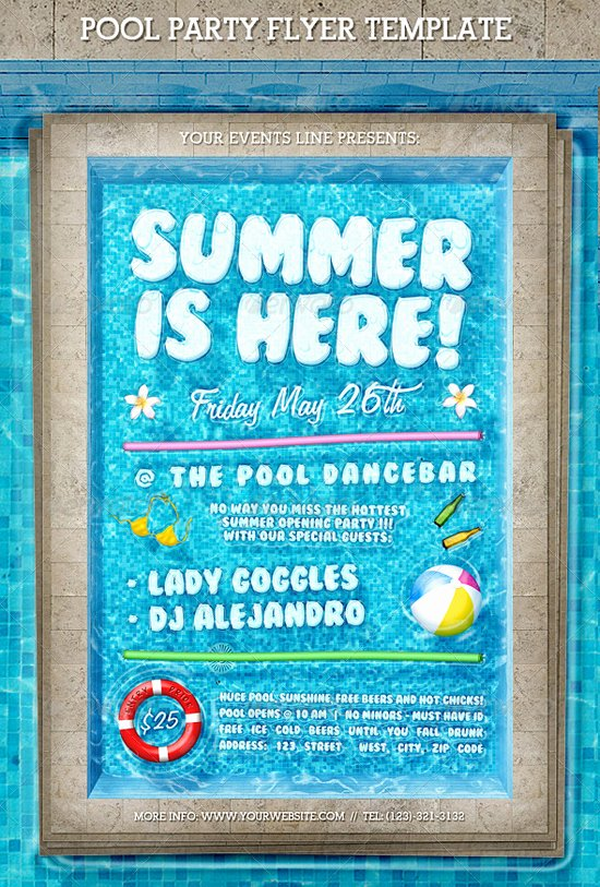 Top 50 Summer Beach Party Flyer Templates 56pixels
