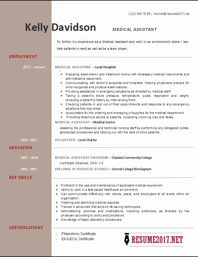 Top 6 Medical assistant Resume Templates 2017