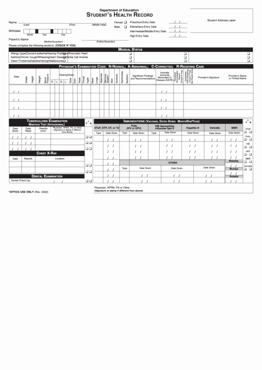 Top 7 Personal Health Record Templates Free to In