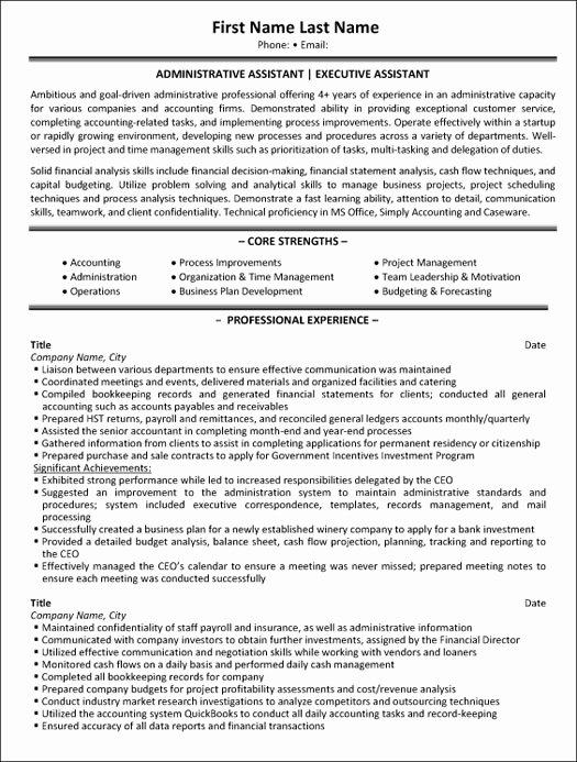 Top Administrative Resume Templates & Samples