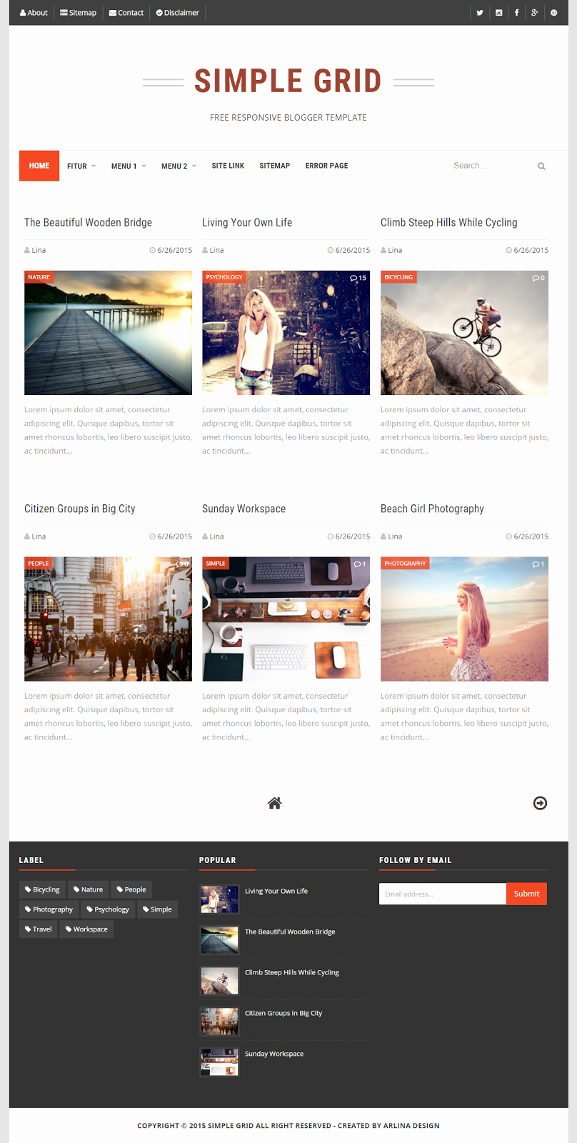 Top Best Free and Premium Blogger Templates 2017 Nayan