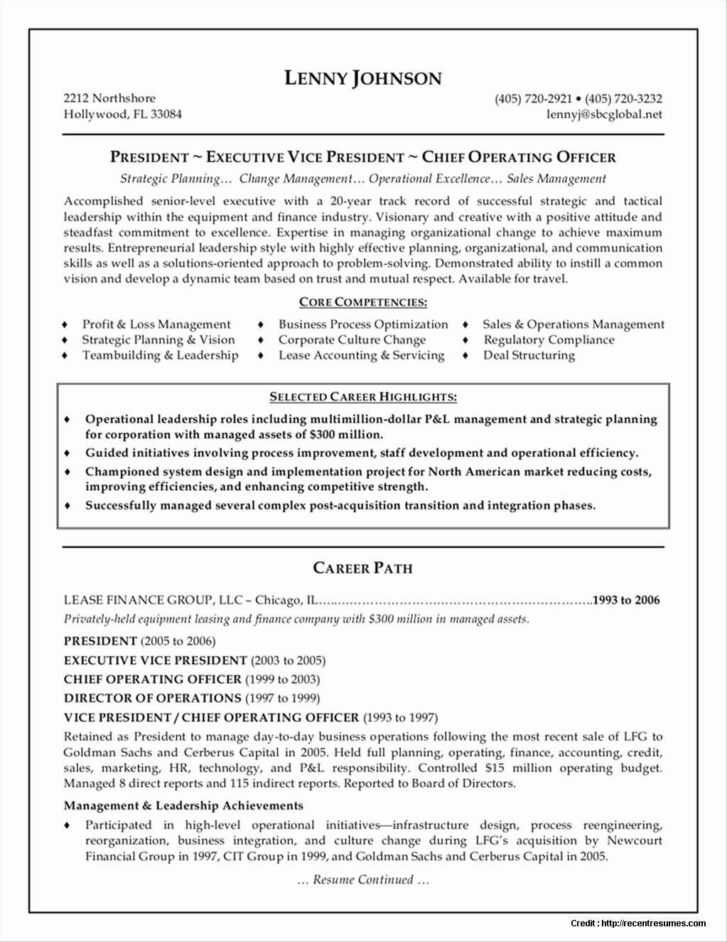 Top Executive Resume Examples Resume Resume Examples