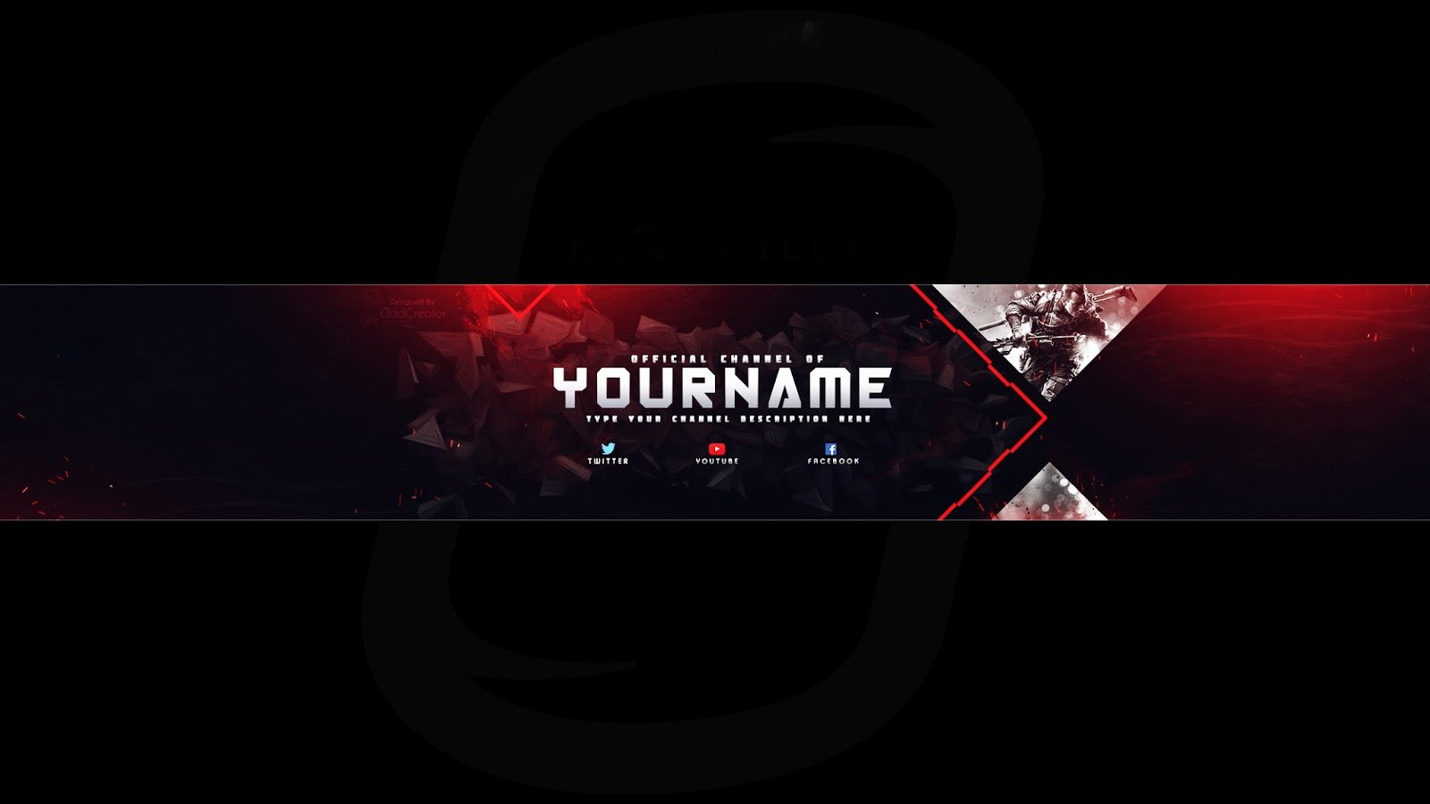 Top Gaming Banner Youtube Channel Art Shop Template