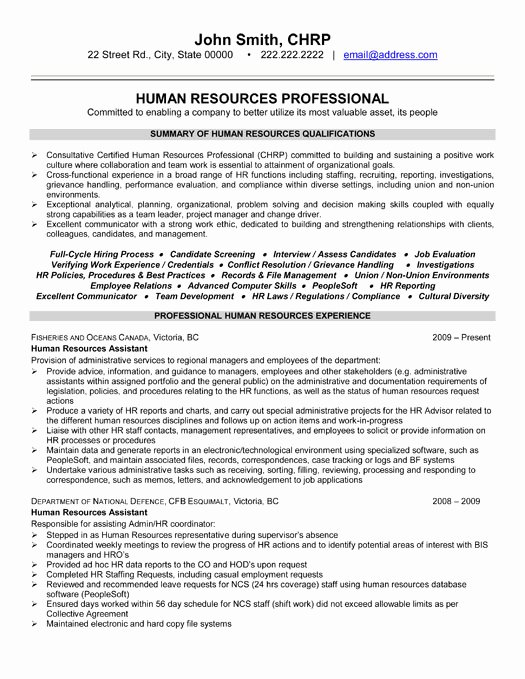 Top Human Resources Resume Templates & Samples