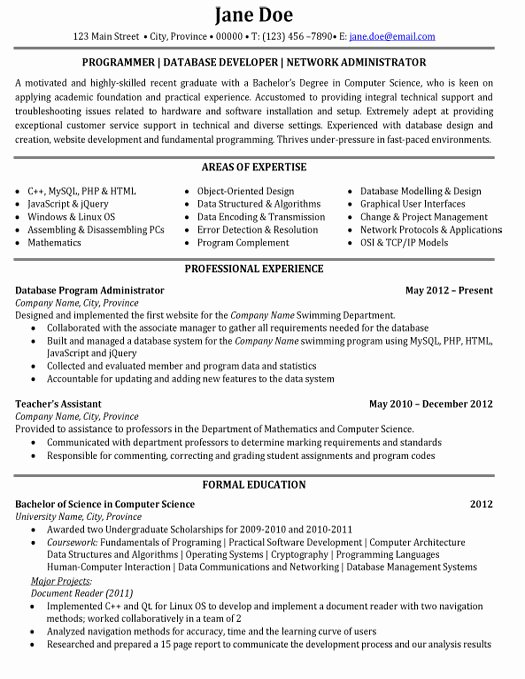 Top Information Technology Resume Templates & Samples
