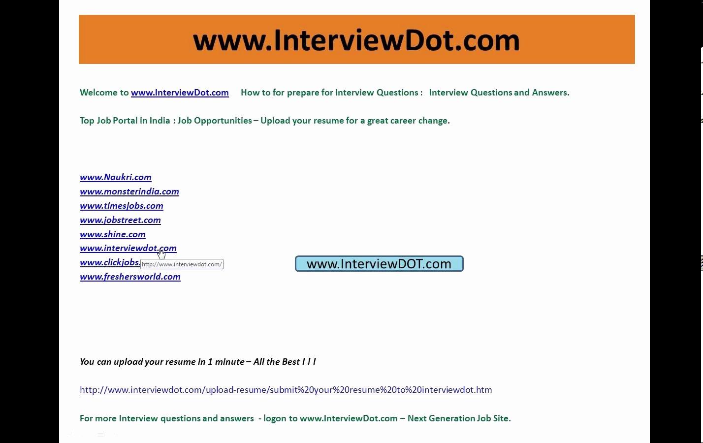 Top Job Sites to Post Resume