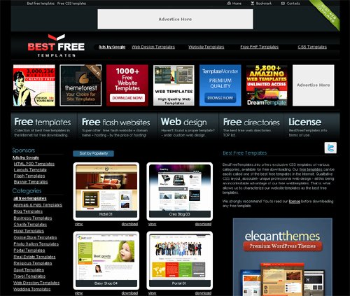 Top Latest Websites to Download Free Website Templates