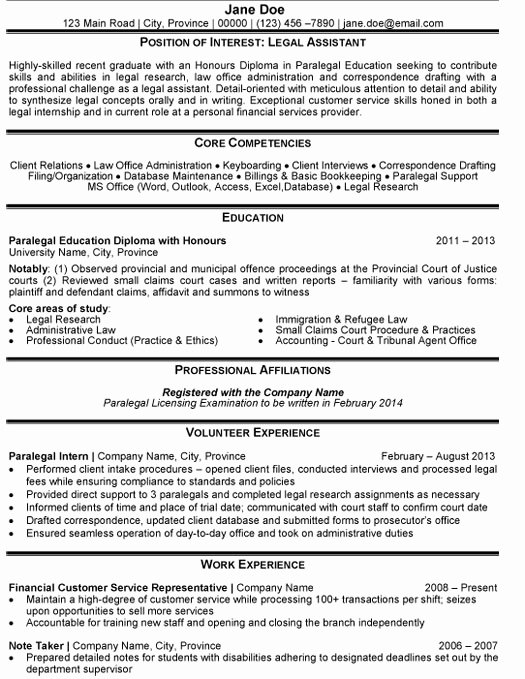 Top Legal Resume Templates & Samples