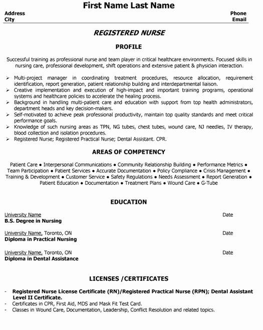 Top Nurse Resume Templates & Samples