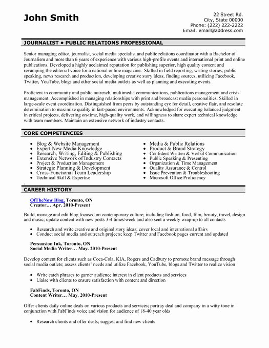 Top Public Relations Resume Templates & Samples