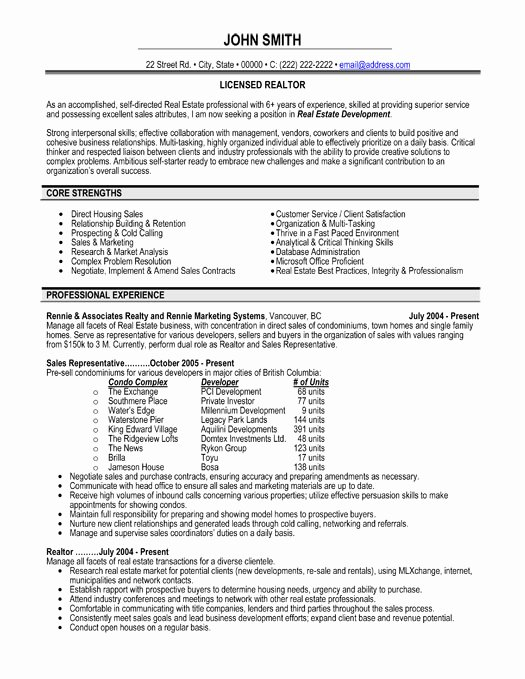 Top Real Estate Resume Templates & Samples