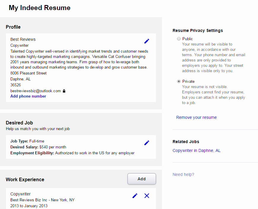 Top Websites for Posting Your Resume Line Resume