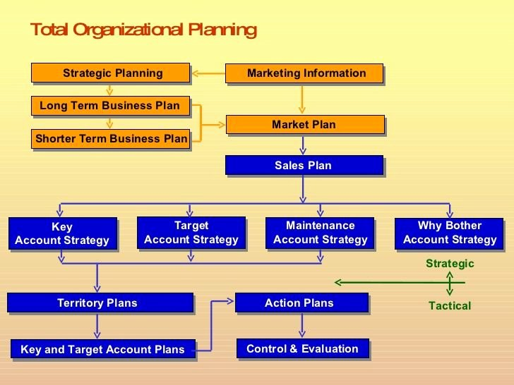 Total organizational Planning Sales Plan Tar Account