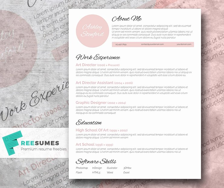Touch Of Pink A Beautiful Free Resume Template Freesumes