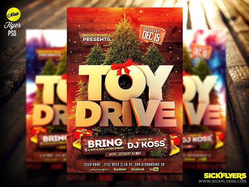 Toy Drive Flyer Template Psd by Industrykidz On Deviantart