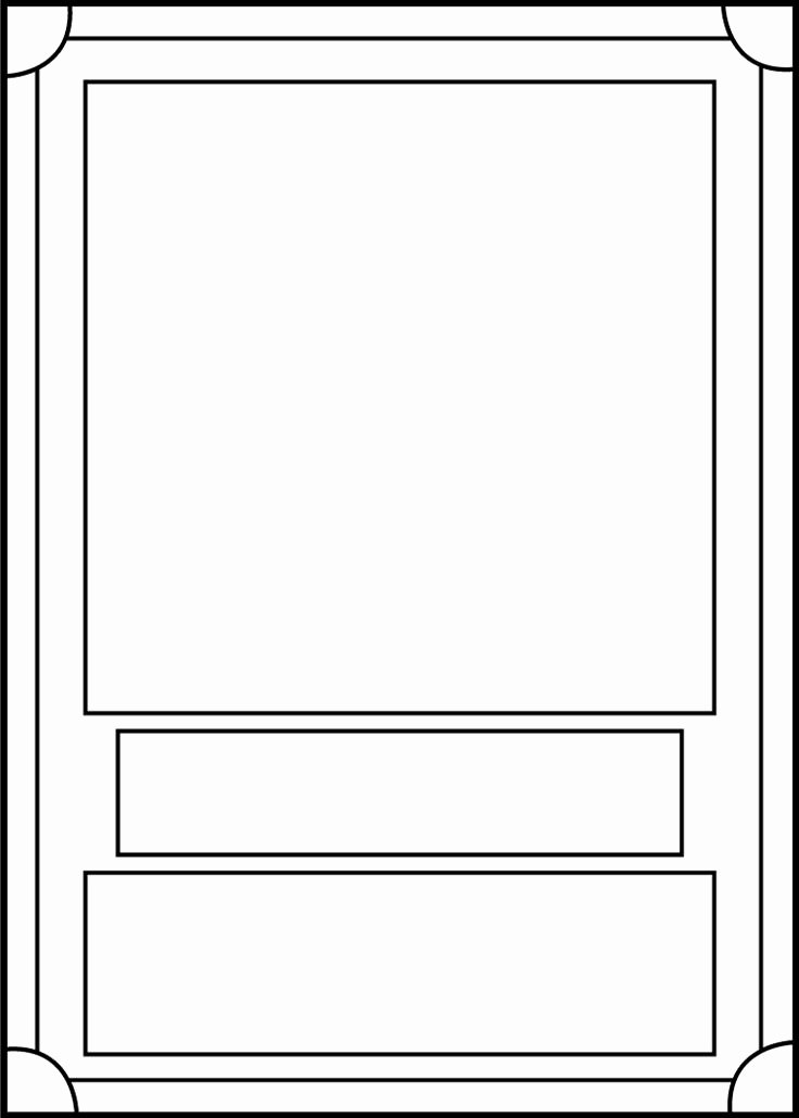 Trading Card Template Front by Blackcarrot1129 On